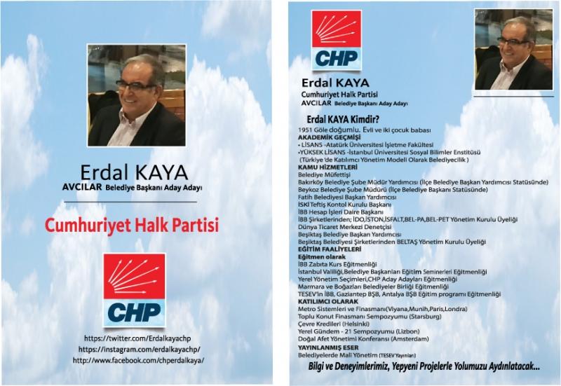 CHP Avcılar Belediye Başkan Aday Adayı Erdal Kaya basın toplantısı düzenliyor
