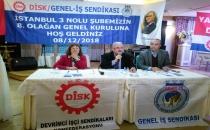 DİSK/Genel-İş İstanbul 3 No'lu Şube Genel Kurul yaptı